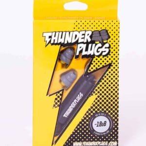 Thunderplugs gehoorbescherming van Banaan in je oor